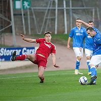SPFL Development League...St Johnstone v Aberdeen..01.10.14<br /> New St Johnstone signing James McFadden reacts shhots for goal<br /> Picture by Graeme Hart.<br /> Copyright Perthshire Picture Agency<br /> Tel: 01738 623350  Mobile: 07990 594431