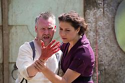 Pictured:  Botanics Shakespeare Macbeth blood<br />Karen Gordon  (c) Edinburgh Elite media Date<br /><br /><br />(c) Karen Gordon | Edinburgh Elite media