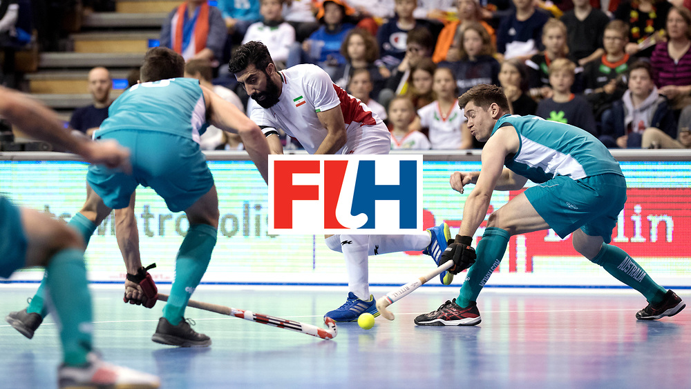 BERLIN - Indoor Hockey World Cup<br /> Bronze: Iran - Australia<br /> foto: BEIRANVAND Behdad.<br /> WORLDSPORTPICS COPYRIGHT FRANK UIJLENBROEK