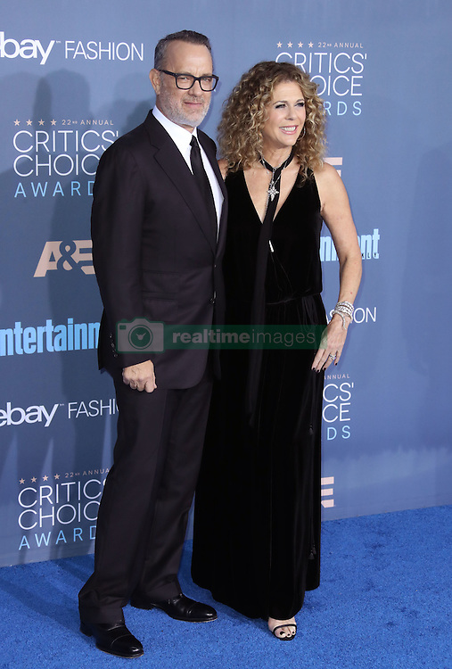 Tom Hanks, Rita Wilson, The 22nd Annual Critics Choice Awards at Barker Hangar (Santa Monica, CA.)