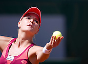 Agnieszka Radwanska of Poland competes in women's single while Day Second during The French Open 2013 at Roland Garros Tennis Club in Paris, France...France, Paris, May 27, 2013..Picture also available in RAW (NEF) or TIFF format on special request...For editorial use only. Any commercial or promotional use requires permission...Mandatory credit:.Photo by © Adam Nurkiewicz / Mediasport