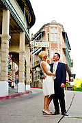 Stock photography of a wedding couple in Eureka Springs, Arkansas.