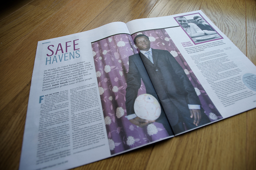 "Tearsheet of ""Safe Haven"" published in Irish Times Magazine"