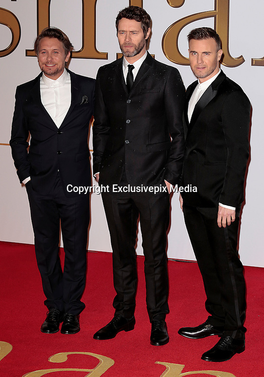 """Jan 14, 2015 - """"Kingsman: The Secret Service"""" - World Premiere - Red Carpet Arrivals at Odeon,  Leicester Square, London<br /> <br /> Pictured: Gary Barlow, Howard Donald and Mark Owen from Take That<br /> ©Exclusivepix Media"""