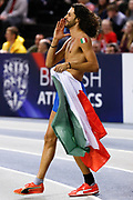 Gianmarco Tamberi (Italy), High Jump, Winner 1st Place, during the European Athletics Indoor Championships 2019 at Emirates Arena, Glasgow, United Kingdom on 2 March 2019.