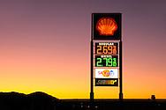 Gas Station at dawn, Grants, New Mexico, USA