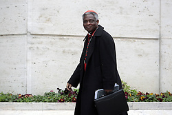 Peter Kodwo Appiah Turkson during the third day of congregation for cardinals, waiting for the Conclave for the election of the Pope, Vatican, Italy, March 5, 2013. Photo by Imago / i-Images...UK ONLY..Contact..Andrew Parsons: 00447545 311662.Stephen Lock: 00447860204379