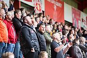 Crewe Alexandra Fans during the EFL Sky Bet League 2 match between Crewe Alexandra and Exeter City at Alexandra Stadium, Crewe, England on 5 October 2019.