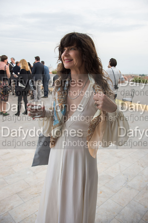 FRANCES STARK, Absolut celebrate the winners of the 2015 Absolut Art prize. the award for art awarded to Frances Stark and the award for writing awarded to Mark Godfrey. Bauer Hotel Terrce, Venice Biennale, Venice. 8 May 2015