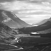 Glen Etive and Loch Etive from Beinn Dubh, Dalness