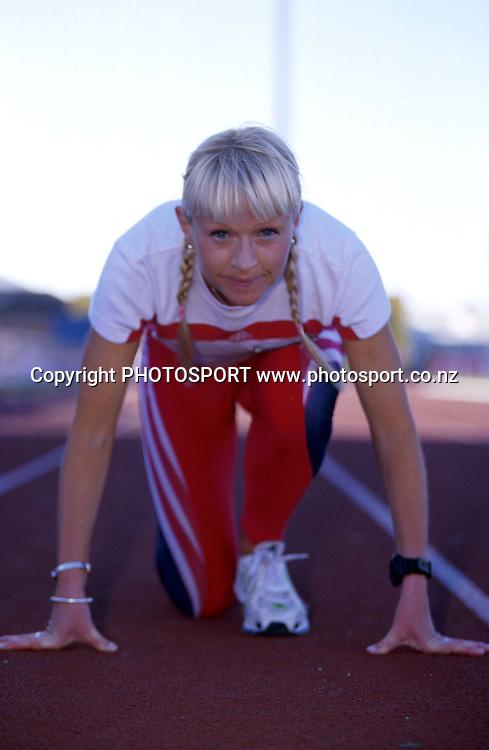 Melissa Moon during a photoshoot, New Zealand women's athletics, Wellington. 19 November 2009. Photo: PHOTOSPORT