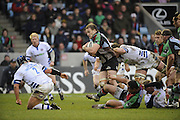 Twickenham, GREAT BRITAIN, Quins,  George ROBSON, attacks with the ball,  during the Guinness Premiership match, Harlequins vs Bath Rugby at the Twickenham Stoop.  Sun. 16th Feb 2008. 16.03.2008.  [Mandatory Credit, Peter Spurrier/Intersport-images]