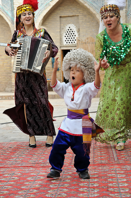 A collection of images taken at an Uzbek dinner theater in Kiva, Uzbekistan.