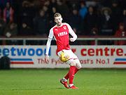 Cian Bolger of Fleetwood Town during the EFL Sky Bet League 1 match between Fleetwood Town and Blackpool at the Highbury Stadium, Fleetwood, England on 25 November 2017. Photo by Paul Thompson.