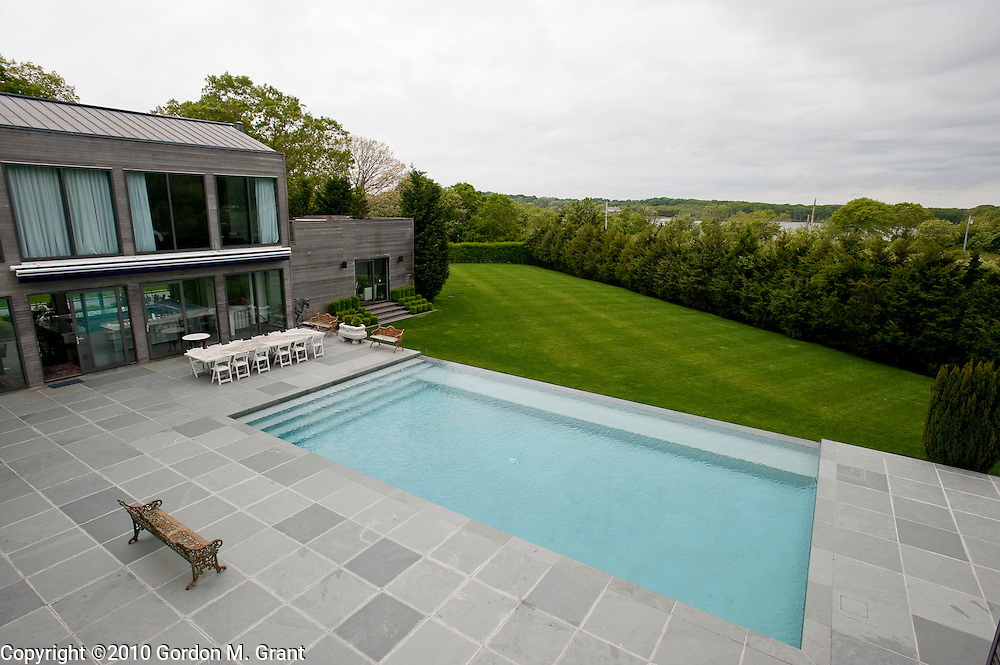 Sagaponack, NY - 5/23/10 -   Exterior of the pool area of the home at 46 Hildreth Lane in Sagaponack, NY May 23, 2010. CREDIT: Gordon M. Grant for The Wall Street Journal