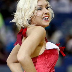 December 21, 2011; New Orleans, LA, USA; A New Orleans Hornets Honeybees dancer performs during the second half of a preseason game against the Memphis Grizzlies at the New Orleans Arena. The Hornets defeated the Grizzlies 95-80.  Mandatory Credit: Derick E. Hingle-US PRESSWIRE