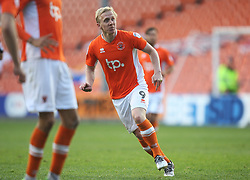 Mark Cullen of Blackpool scores his sides second goal - Mandatory by-line: Jack Phillips/JMP - 14/05/2017 - FOOTBALL - Bloomfield Road - Blackpool, England - Blackpool v Luton Town - Football League 2 Play-off Semi Final Leg 1