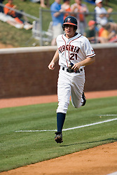 Virginia Cavaliers pitcher/firstbaseman Sean Doolittle (21) rounds third after a Virginia Cavaliers outfielder Brandon Guyer (20) home run.  The Virginia Cavaliers defeated the Lafayette Leopards 5-1 at Davenport Field in Charlottesville, VA.  The game, held on June 1, 2007 was the first of the NCAA World Series Regional.