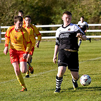 13.10.12<br /> McDonalds Ennis/Shannon Clare Schoolboys Soccer League Cup Finals. Firefighter Darren Stack Memorial Under 16 Cup Final, Moher Celtic V Avenue Utd. Moher's Keith Sexton in action against Avenue's Niall Keane. Pic: Alan Place Press 22