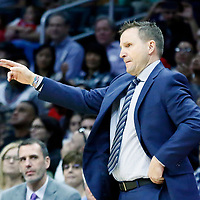 09 December 2017: Washington Wizards head coach Scott Brooks reacts during the LA Clippers 113-112 victory over the Washington Wizards, at the Staples Center, Los Angeles, California, USA.