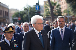 September 8, 2017 - Roma, RM, Italy - President of the Italian Republic Sergio Mattarella.during the celebrations for the 74th anniversary of the Defense of Rome, (Credit Image: © Matteo Nardone/Pacific Press via ZUMA Wire)
