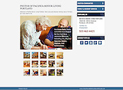 web screen of photogallery for Pacifica Memory Care Center Portland Oregon