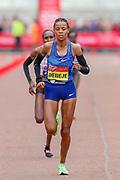 Roza Dereje (Ethiopia), Third Place, Women's Elite race, during the Virgin Money 2019 London Marathon, London, United Kingdom on 28 April 2019.
