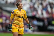 Becky Spencer (GK) (Tottenham Hotspur) during the FA Women's Super League match between West Ham United Women and Tottenham Hotspur Women at the London Stadium, London, England on 29 September 2019.