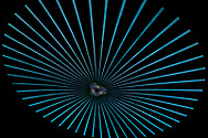 Paraluna by: Christopher Schardt from: Oakland, CA year: 2018<br /> <br /> Paraluna combines kinetic sculpture, LEDs and music. Its main component is a disc 10m in diameter with 17,280 LEDs. A computer controls the LEDs while rotating, raising, lowering, and tilting the disc.<br /> <br /> Some of the LED patterns work with the rotation of the disk, creating spirals. Others use persistence-of-vision, making an image hover in space above the spinning LEDs. Spokes demonstrates both of these styles: https://photos.app.goo.gl/DcP9IauNTjRHENUh2<br /> <br /> Surrounding the disc are several high-quality speakers that play classical music at comfortable, yet immersive volume, creating a comfortable, peaceful place to be. Patterns are chosen to complement each musical piece, as with Firmament:<br /> https://photos.app.goo.gl/H6KCzkf5jkGWAA3m2 My Burning Man 2018 Photos:<br />