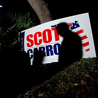 TAMPA, FL -- October 25, 2010 -- Supporters wait for Republican candidate for governor Rick Scott at a post-debate rally in Tampa, Fla., on Monday, September 25, 2010.  Scott was kicking off his final week of campaigning in the heated race for Florida Governor against Democrat Alex Sink.