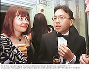 Mr. & Mrs. Kazuo Ishigura. Duckworth Centenary Dinner. Dorchester, London 14/10/98<br />© Copyright Photograph by Dafydd Jones<br />66 Stockwell Park Rd. London SW9 0DA<br />Tel 0171 733 0108