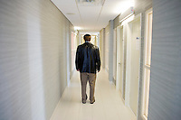 "1 August, 2008. New York, NY. Baruch November, 31, is here in here in the hallway of the last floor of the Westmont building. Baruch November is a Orthodox man from Pittsburgh who moved, like many other young jewish men and women, to the Upper West Side in New York with marriage in his mind.  The Westmont building has become one of the favored residences for the young Orthodox. In the last decades the Upper West Side, which has emerged as the ""Orthodox Courting Central"", has driven young Orthodox jews from the US and other nations.<br />  ©2008 Gianni Cipriano for The New York Times<br /> cell. +1 646 465 2168 (USA)<br /> cell. +1 328 567 7923 (Italy)<br /> gianni@giannicipriano.com<br /> www.giannicipriano.com"