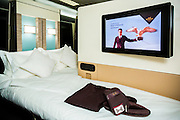 ABU DHABI, UAE - FEBRUARY 8, 2015: First Apartment A380 is a first class feature.  Etihad Airways is redefining innovation and competing with the legacy brands.