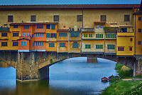 Ponte Vecchio is the oldest bridge of Florence.