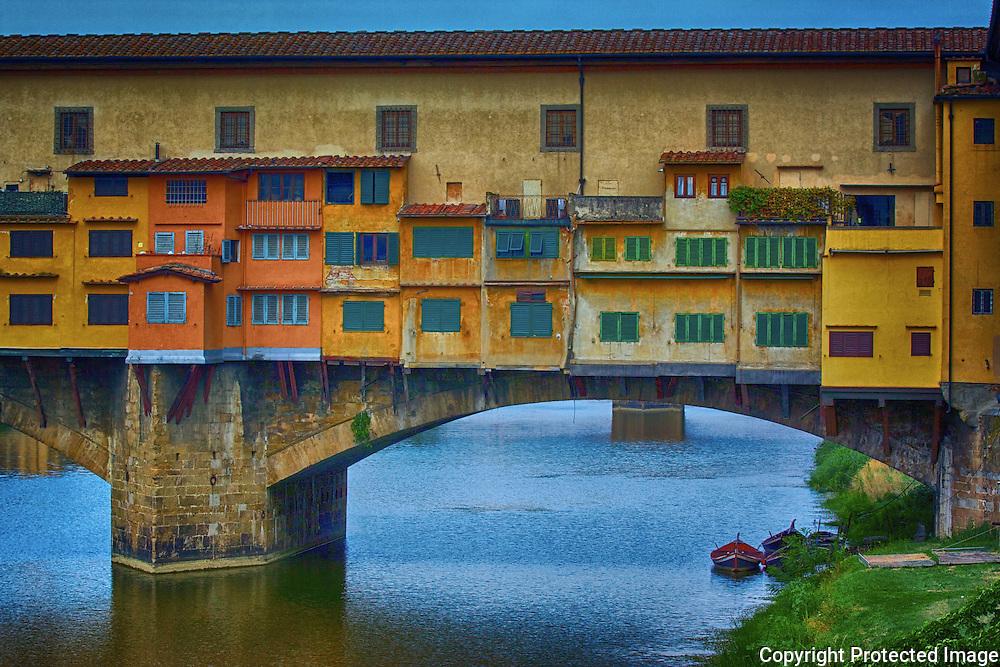 Ponte Vecchio is the oldest bridge of Florence.