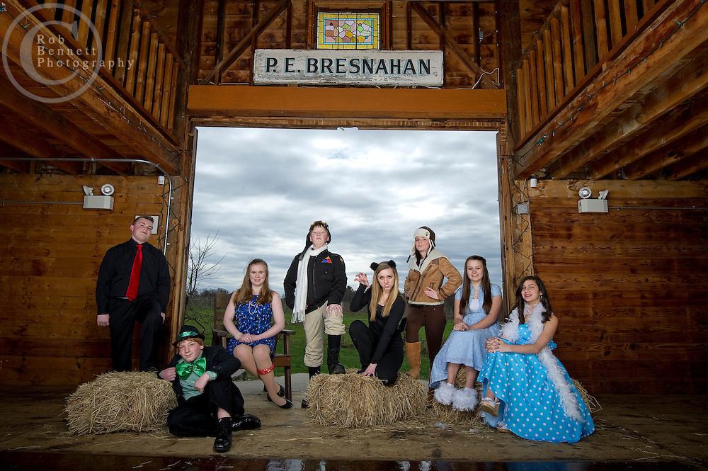 "Apr 7, 2012: Saint John The Baptist School in Peabody, MA - annual school play promo photo - ""HONK!"" .Credit: Rob Bennett"