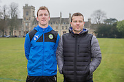 Forest Green Rovers new signing Mark Ellis with Forest Green Rovers manager, Mark Cooper joins from Carlisle United, 26 January 2017. Photo by Shane Healey.