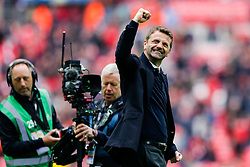 Aston Villa Manager Tim Sherwood celebrates after Aston Villa win the match 2-1 to reach the 2015 FA Cup Final - Photo mandatory by-line: Rogan Thomson/JMP - 07966 386802 - 19/04/2015 - SPORT - FOOTBALL - London, England - Wembley Stadium - Aston Villa v Liverpool - FA Cup Semi Final.