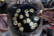 Fried snacks made of chickpea flour, Kariakudi, Tamil Nadu, India