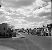 Newbridge, Co. Kildare, View of Main Street, Newbridge, Co Kildare. 20/05/1957.