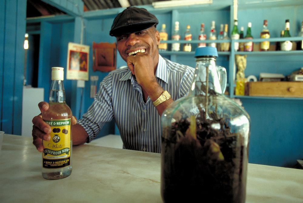 Man with rum, Island of Montserrat