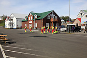 Iceland, Husavik, a fishing village and a centre of whale watching in northern Iceland