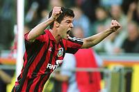 Fotball: Bundesliga 2001/2002. 2:0 Jubel; BALLACK, Michael    <br />                  Bayer 04 Leverkusen - SC Freiburg  4:1