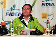 BELGIUM / TELENET FIDEA CYCLING TEAM / CYCLOCROSS / VELDRIJDEN / 2012-2013 / PRESS CONFERENCE / PERSCONFERENTIE NAAR AANLEIDING VAN HET BK / PERSVERANTWOORDELIJKE NOEL TRUYERS /
