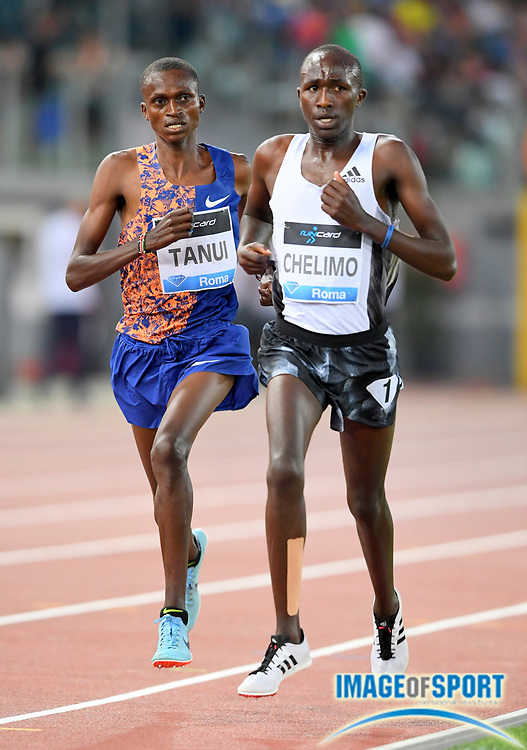 Oscar Chelimo (UGA) places 16th in the 5,000 in 13:20.10during the 39th Golden Gala Pietro Menena in an IAAF Diamond League meet at Stadio Olimpico in Rome on Thursday, June 6, 2019. (Jiro Mochizuki/Image of Sport)
