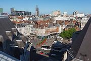 Vue sur les toits du quartier du centre ville de Lille  // View of Lille city center