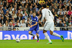10.03.2015, Estadio Santiago Bernabeu, Madrid, ESP, UEFA CL, Real Madrid vs Schalke 04, Achtelfinal, R&uuml;ckspiel, im Bild Real Madrid&acute;s Raphael Varane and FC Shalke 04&acute;s Tranquillo Barnetta // during the UEFA Champions League Round of 16, 2nd Leg match between Real Madrid and Schakke 04 at the Estadio Santiago Bernabeu in Madrid, Spain on 2015/03/10. EXPA Pictures &copy; 2015, PhotoCredit: EXPA/ Alterphotos/ Luis Fernandez<br /> <br /> *****ATTENTION - OUT of ESP, SUI*****