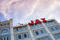 NEW ORLEANS - CIRCA FEBRUARY 2014: Facade of the famous Jax Brewery in  New Orleans in Louisiana.