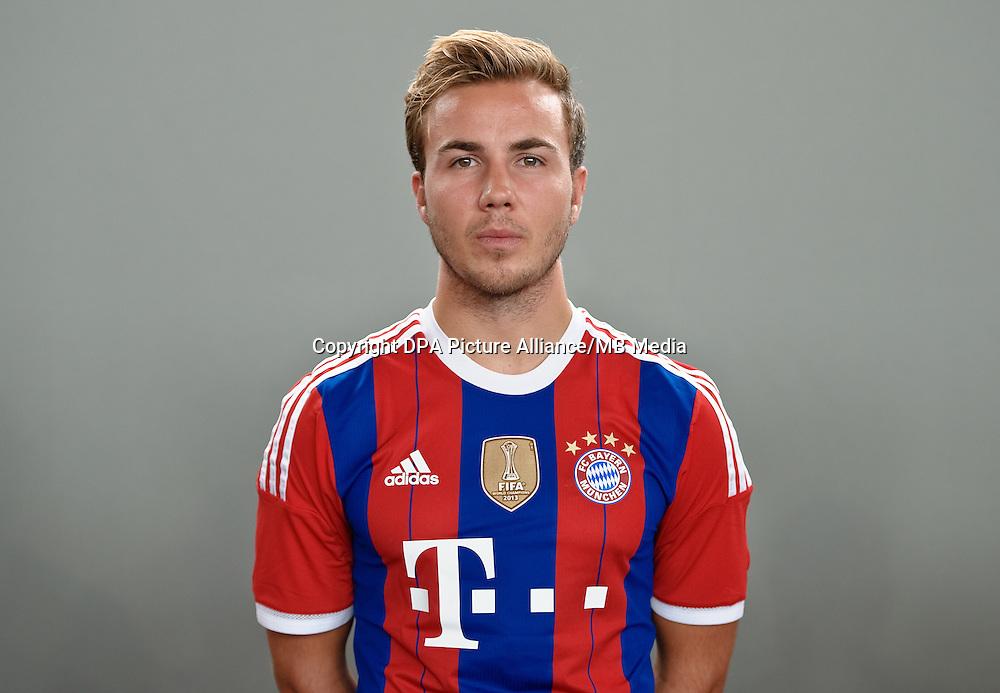 German Soccer Bundesliga - Photocall FC Bayern Munich in Munich on August 9, 2014: Mario Goetze.