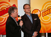 Alton Brown (right) displayes one of his classic efacial expressions while he was interviewed by Marc Summers before the First Food Network Awards Show held at the Jackie Gleason Theater of the Performing Arts, in Miami, FL on  Feb 23, 2007.  (Photo/Lance Cheung) <br /> <br /> PHOTO COPYRIGHT 2007 LANCE CHEUNG<br /> This photograph is NOT within the public domain.<br /> This photograph is not to be downloaded, stored, manipulated, printed or distributed with out the written permission from the photographer. <br /> This photograph is protected under domestic and international laws.